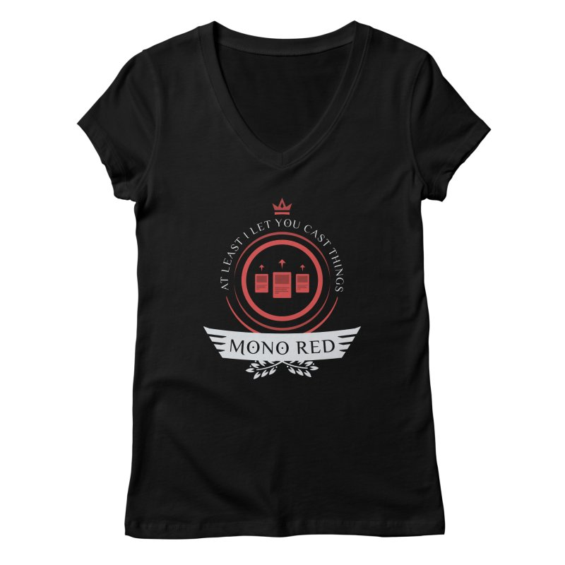 Mono Red Life Women's V-Neck by Epic Upgrades