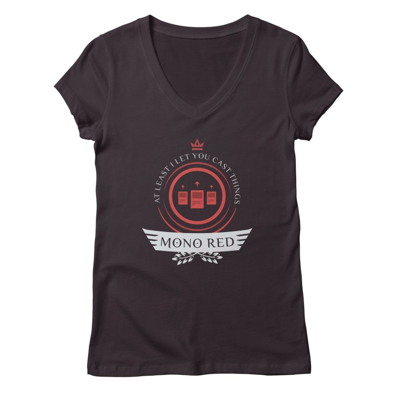 Mono Red Life Women's Regular V-Neck by Epic Upgrades