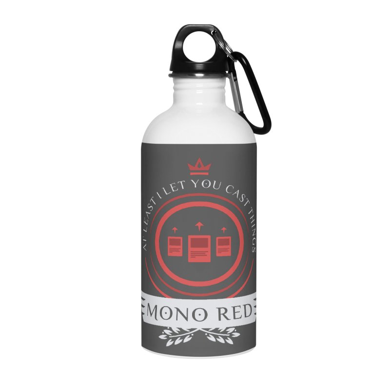 Mono Red Life Accessories Water Bottle by Epic Upgrades