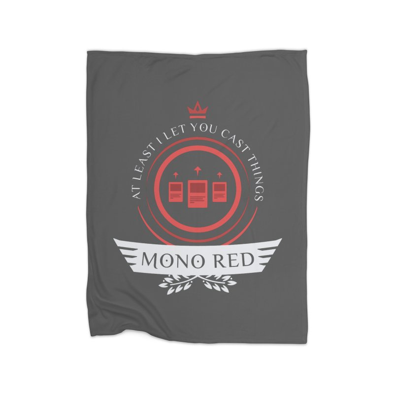 Mono Red Life Home Fleece Blanket Blanket by Epic Upgrades