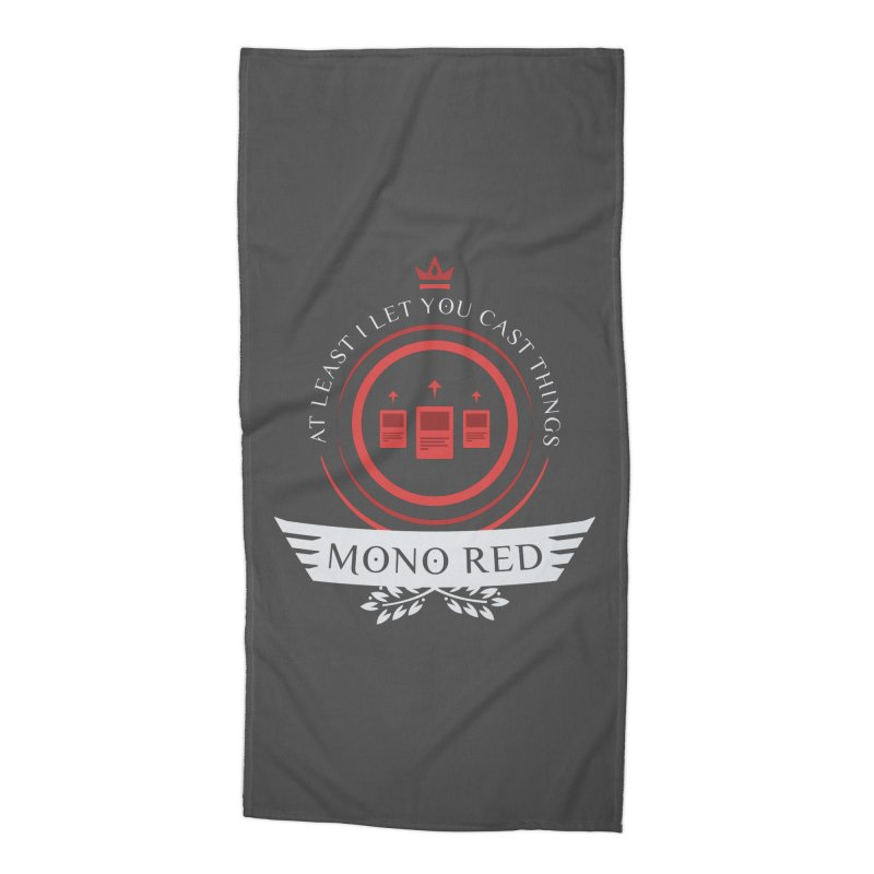 Mono Red Life Accessories Beach Towel by Epic Upgrades