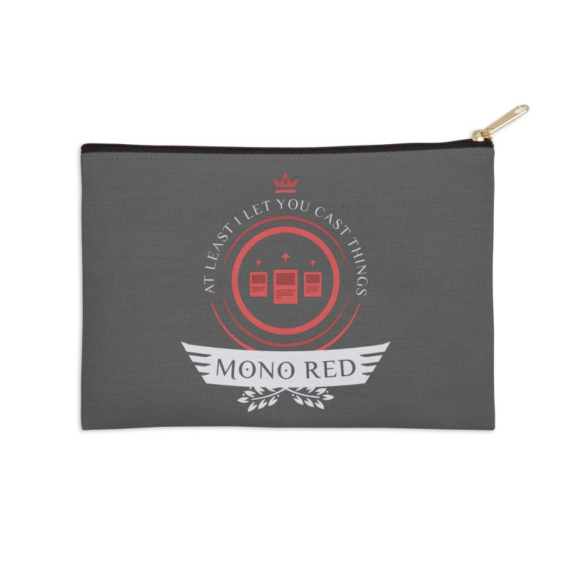 Mono Red Life Accessories Zip Pouch by Epic Upgrades