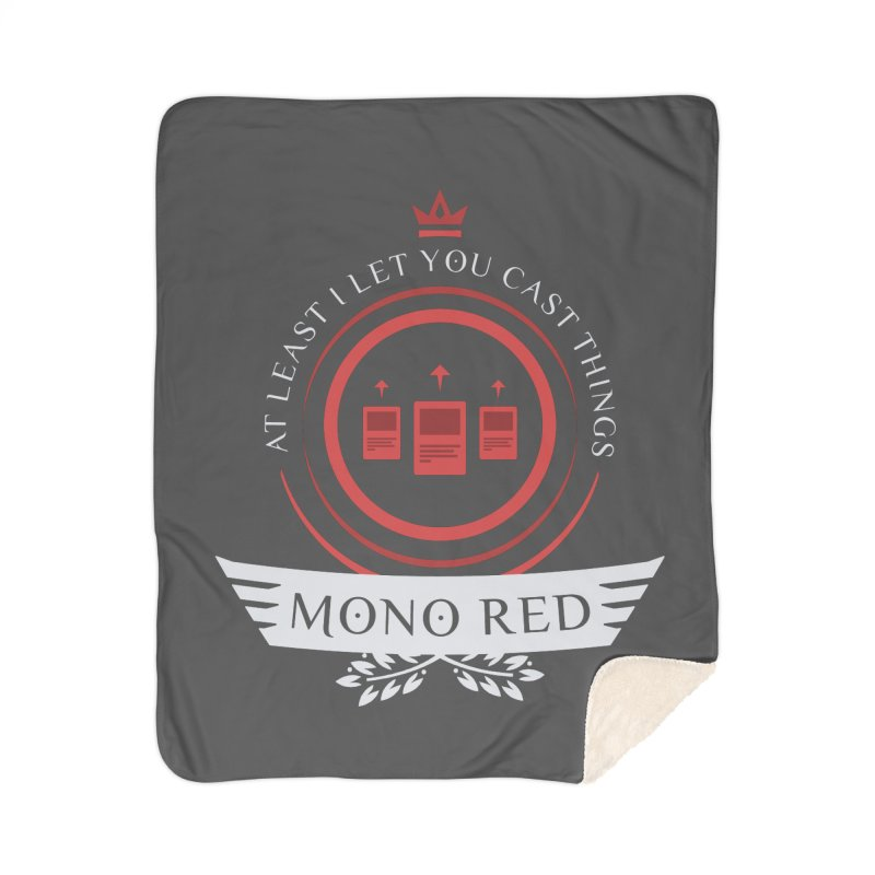 Mono Red Life Home Sherpa Blanket Blanket by Epic Upgrades
