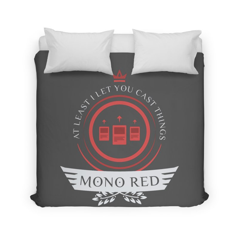 Mono Red Life Home Duvet by Epic Upgrades