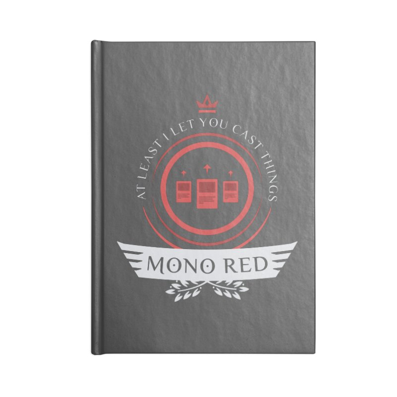 Mono Red Life Accessories Blank Journal Notebook by Epic Upgrades