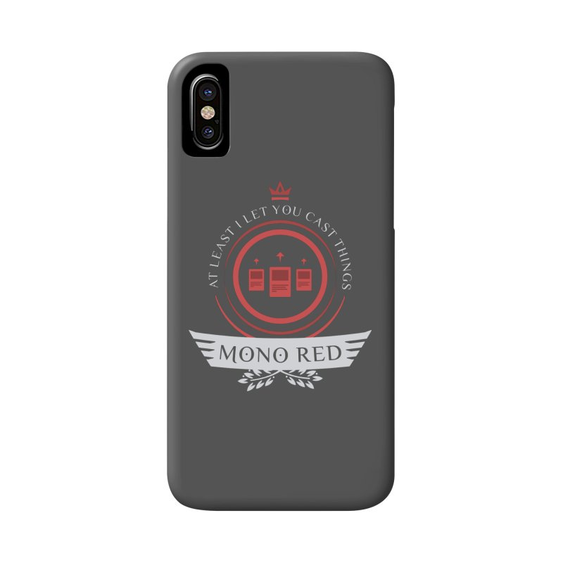 Mono Red Life Accessories Phone Case by Epic Upgrades