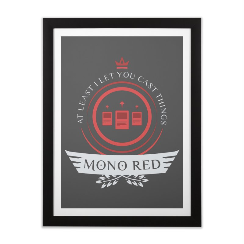 Mono Red Life Home Framed Fine Art Print by Epic Upgrades