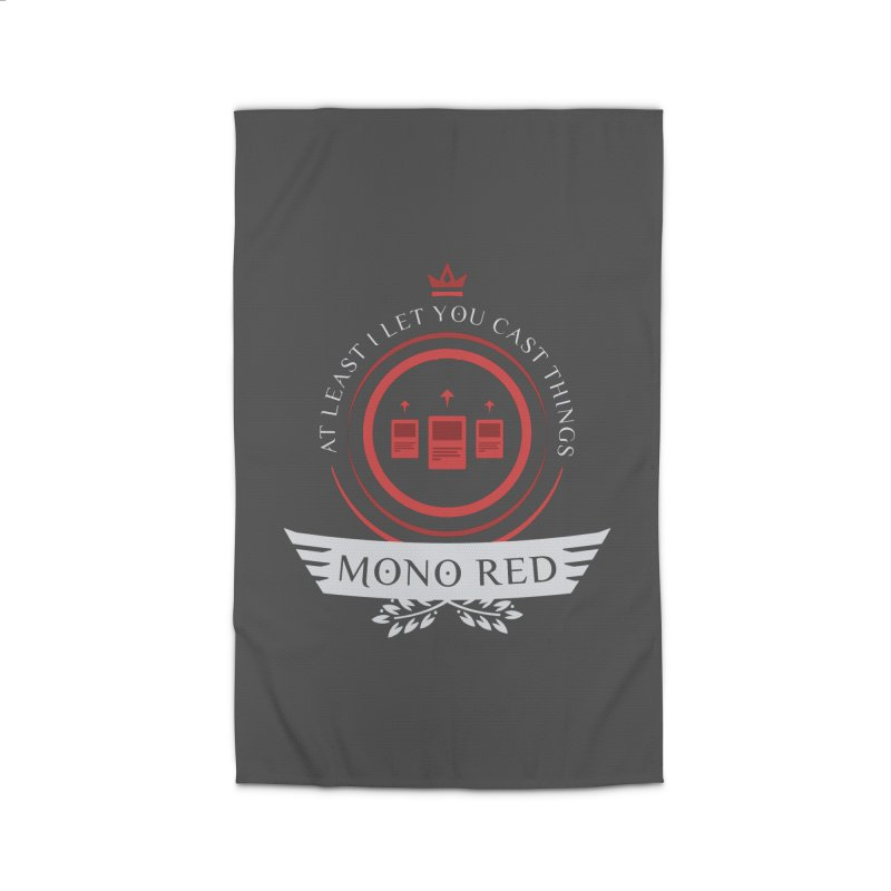 Mono Red Life Home Rug by Epic Upgrades