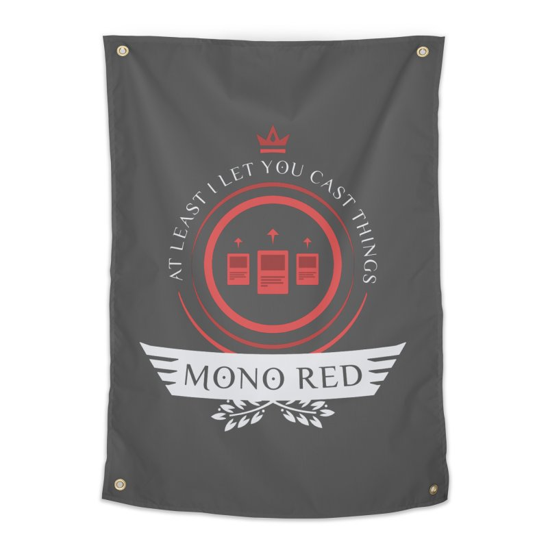 Mono Red Life Home Tapestry by Epic Upgrades