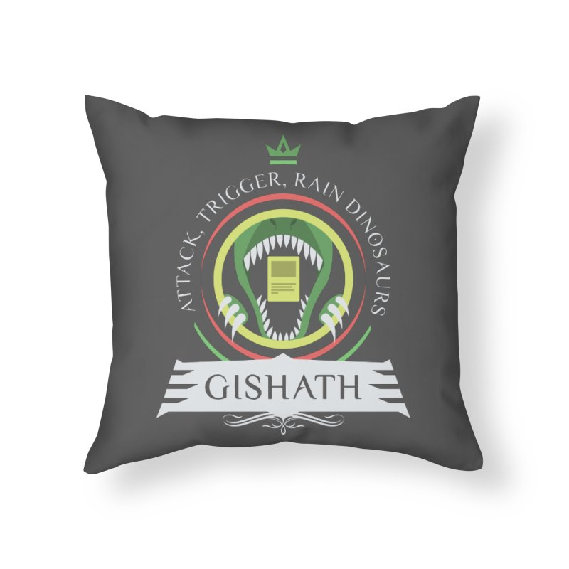 Commander Gishath Home Throw Pillow by Epic Upgrades