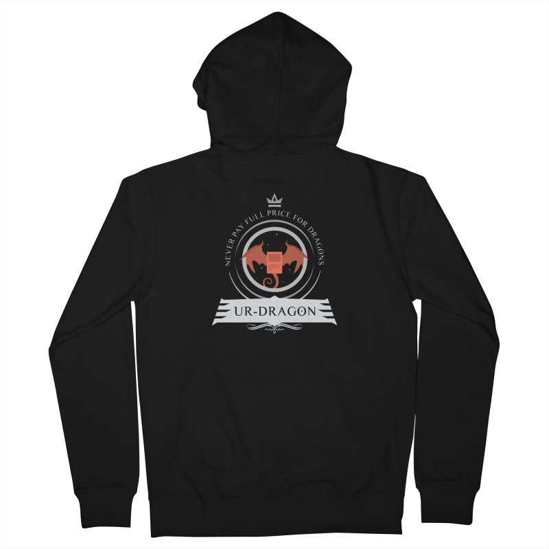 Commander Ur-Dragon Men's French Terry Zip-Up Hoody by Epic Upgrades