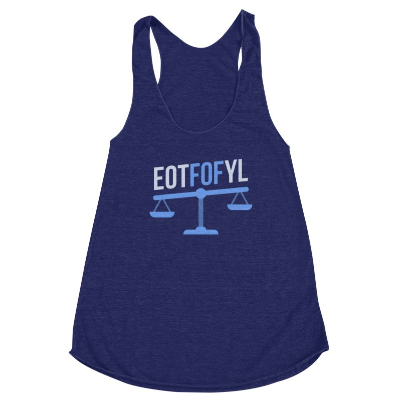 EOTFOFYL - Fact or Fiction Women's Racerback Triblend Tank by Epic Upgrades