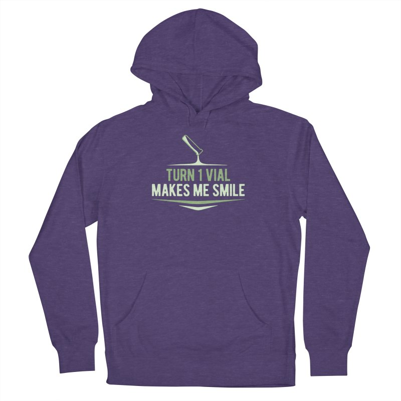 Turn One Vial Makes Me Smile Men's French Terry Pullover Hoody by Epic Upgrades