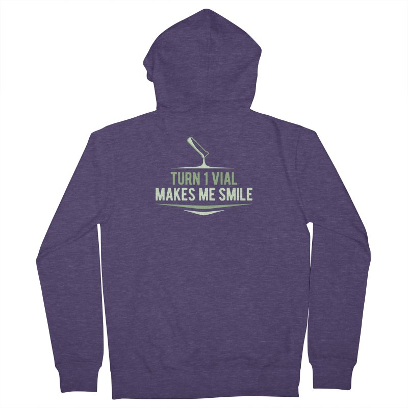 Turn One Vial Makes Me Smile Men's French Terry Zip-Up Hoody by Epic Upgrades