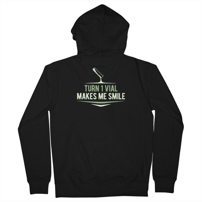 Turn One Vial Makes Me Smile Men's Zip-Up Hoody by Epic Upgrades