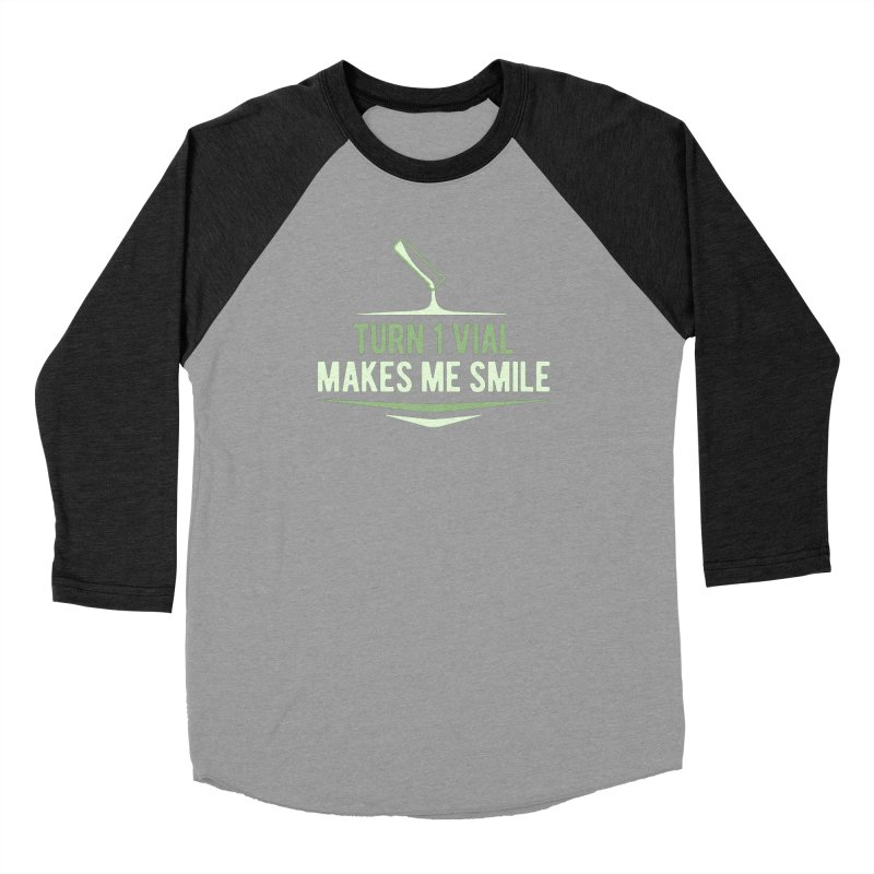 Turn One Vial Makes Me Smile Men's Baseball Triblend Longsleeve T-Shirt by Epic Upgrades
