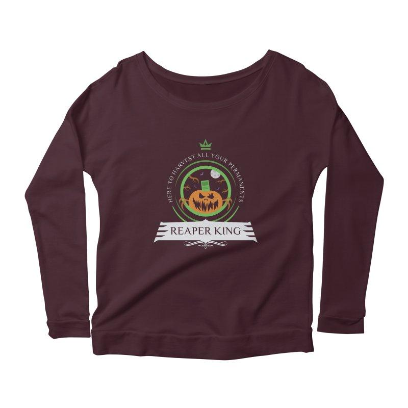 Commander Reaper King Women's Scoop Neck Longsleeve T-Shirt by Epic Upgrades