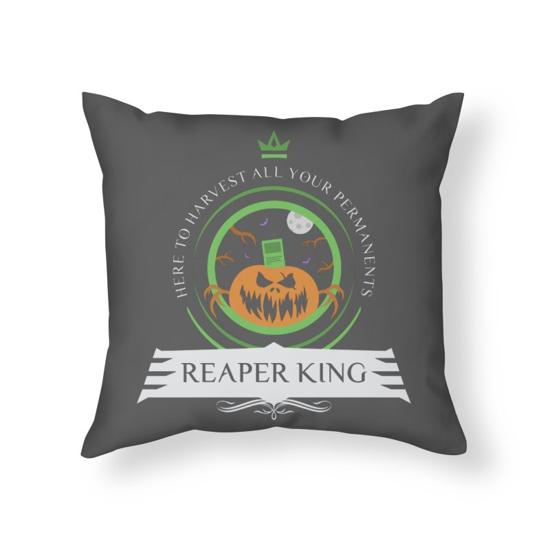 Commander Reaper King Home Throw Pillow by Epic Upgrades
