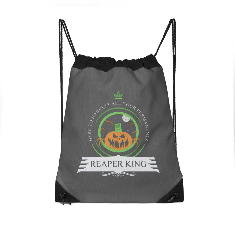 Commander Reaper King Accessories Drawstring Bag Bag by Epic Upgrades