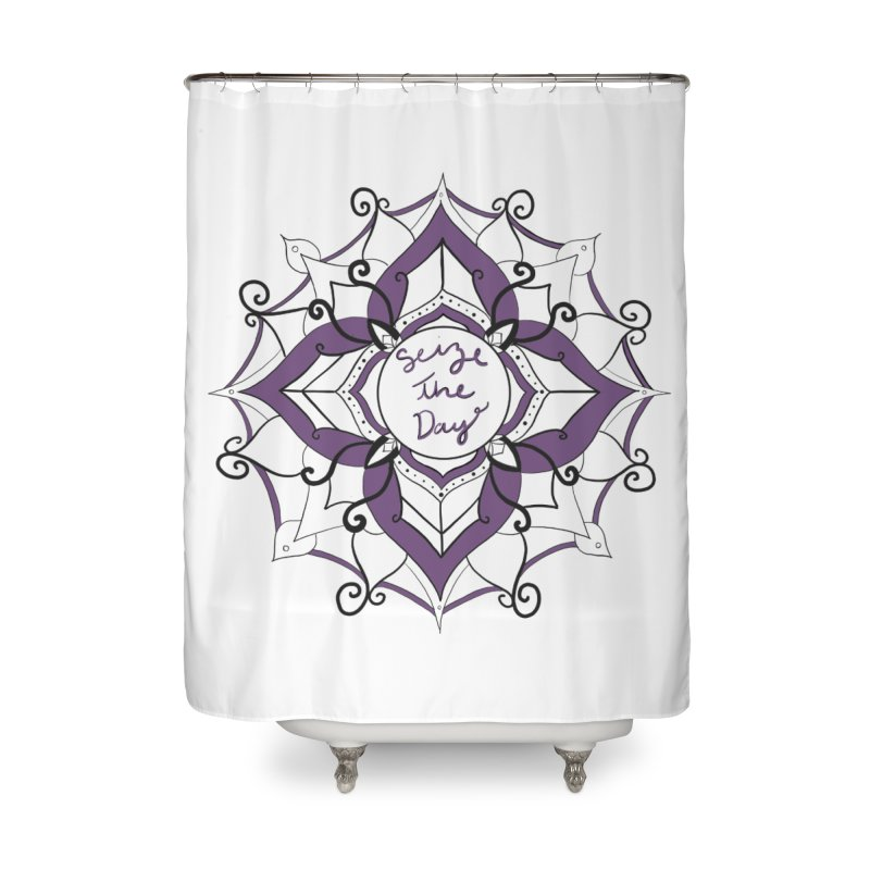 Seize your zen Home Shower Curtain by Epileptic Explorer