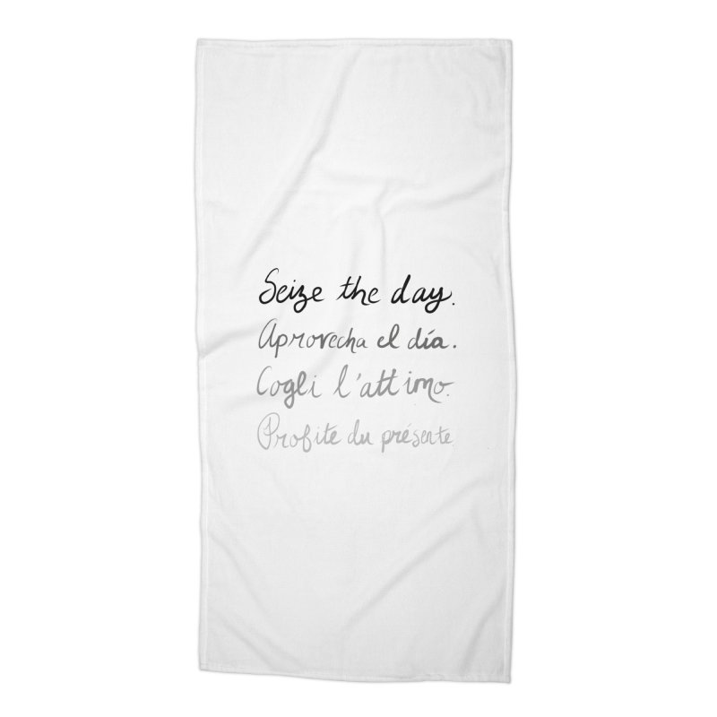 Seize the world. Accessories Beach Towel by Epileptic Explorer
