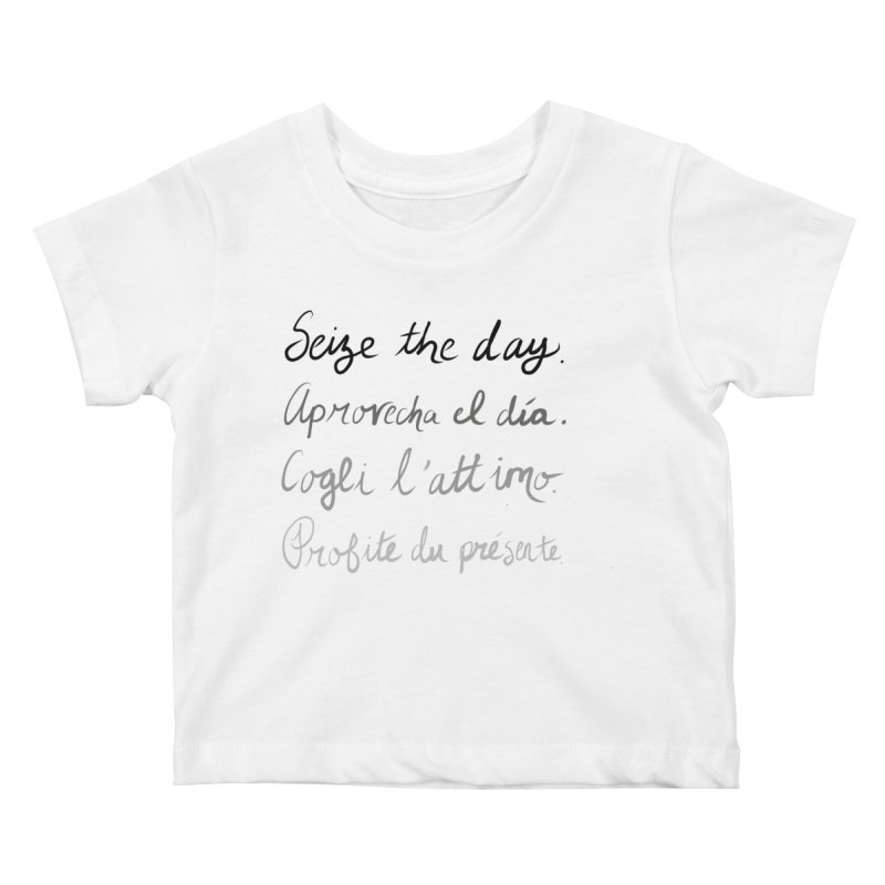 Seize the world. Kids Baby T-Shirt by Epileptic Explorer