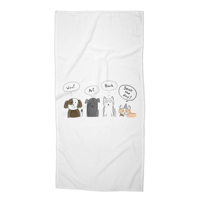 Seize the woofs! Accessories Beach Towel by Epileptic Explorer