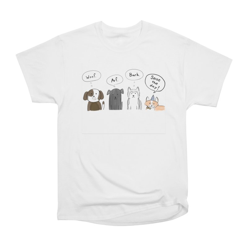 Seize the woofs! Women's T-Shirt by Epileptic Explorer