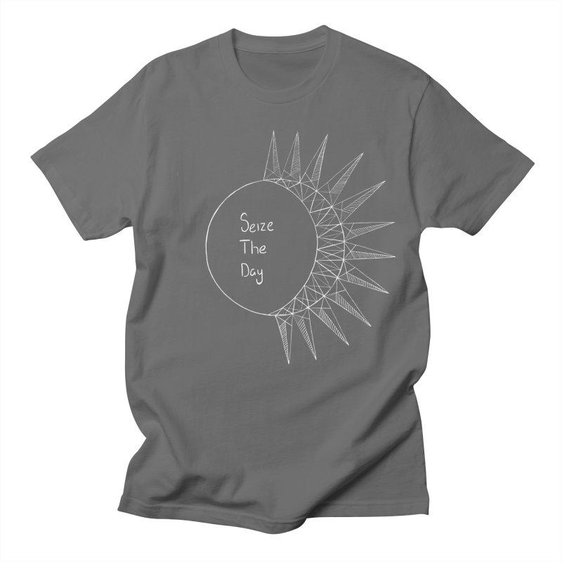 Seize The Solar Lunar Cycle (white) Men's T-Shirt by Epileptic Explorer