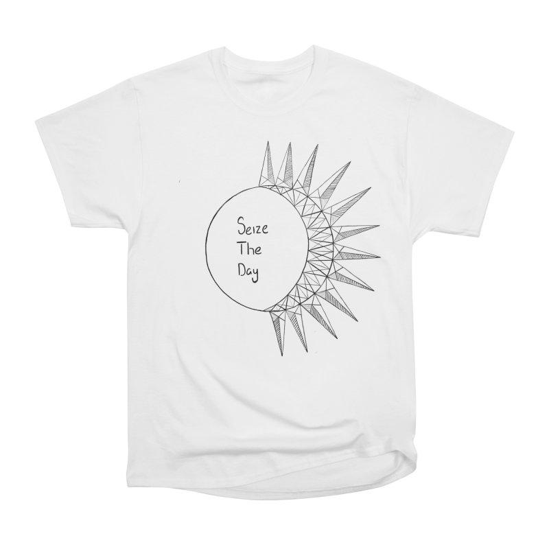 Seize The Solar Lunar Cycle (black) Women's T-Shirt by Epileptic Explorer