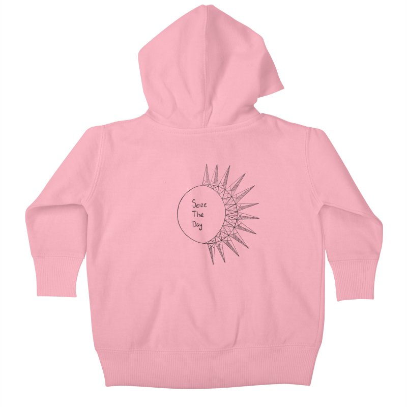 Seize The Solar Lunar Cycle (black) Kids Baby Zip-Up Hoody by Epileptic Explorer
