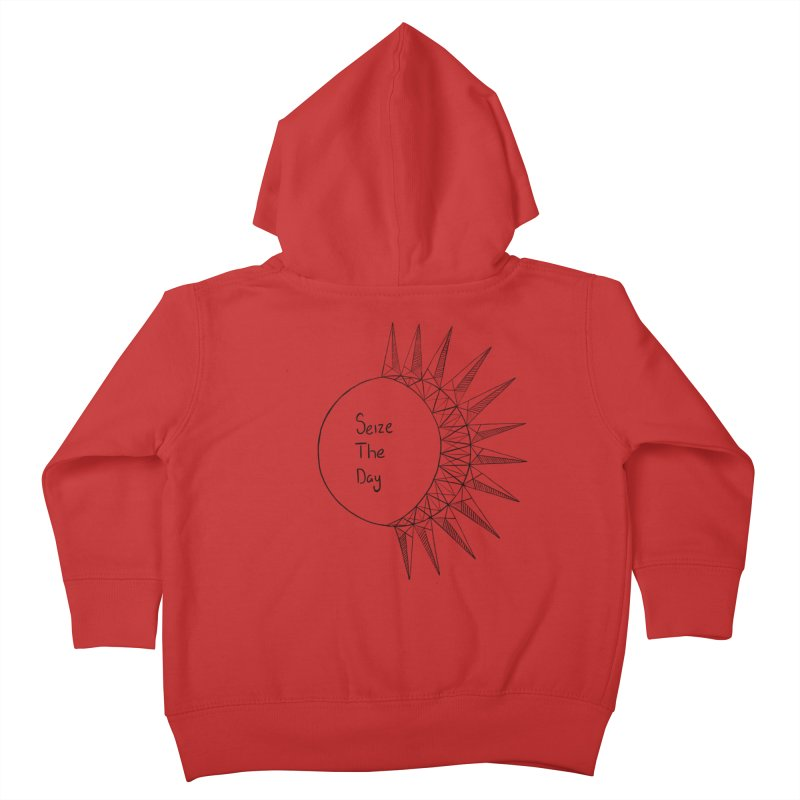 Seize The Solar Lunar Cycle (black) Kids Toddler Zip-Up Hoody by Epileptic Explorer