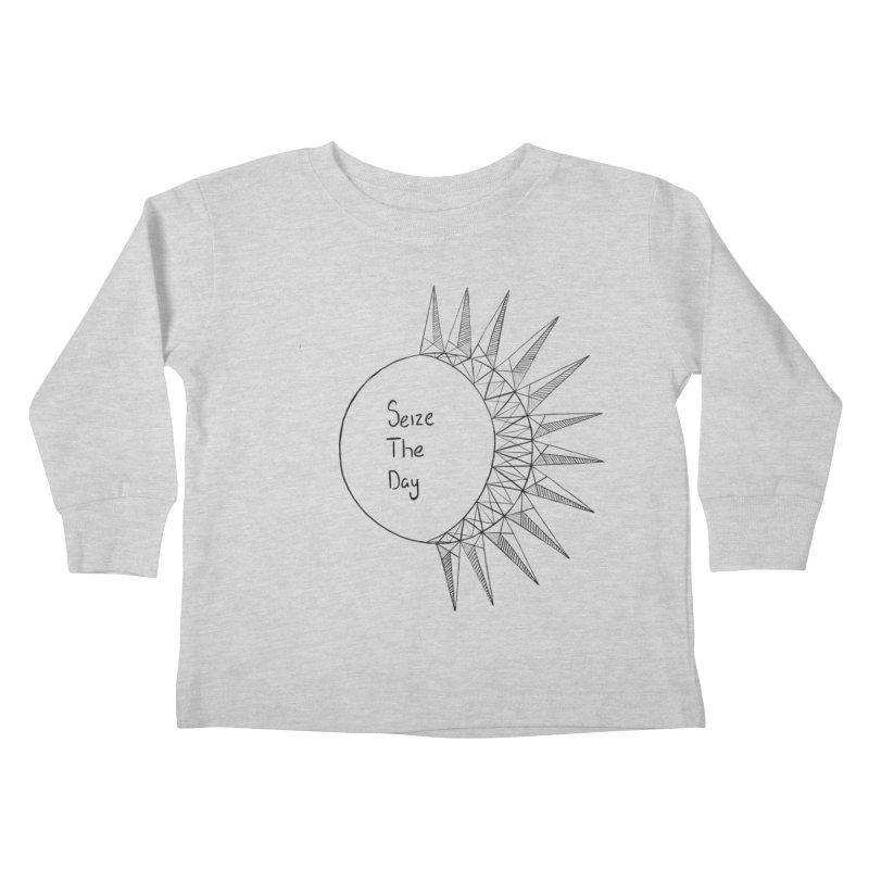 Seize The Solar Lunar Cycle (black) Kids Toddler Longsleeve T-Shirt by Epileptic Explorer