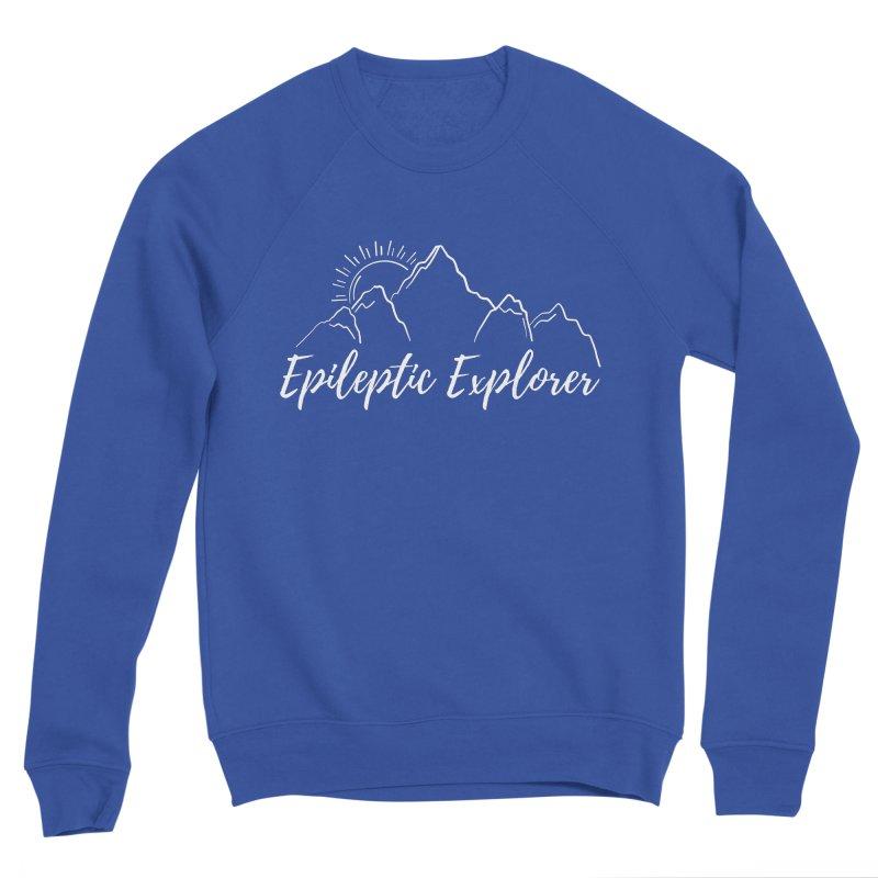 Epileptic Explorer in White Men's Sweatshirt by Epileptic Explorer