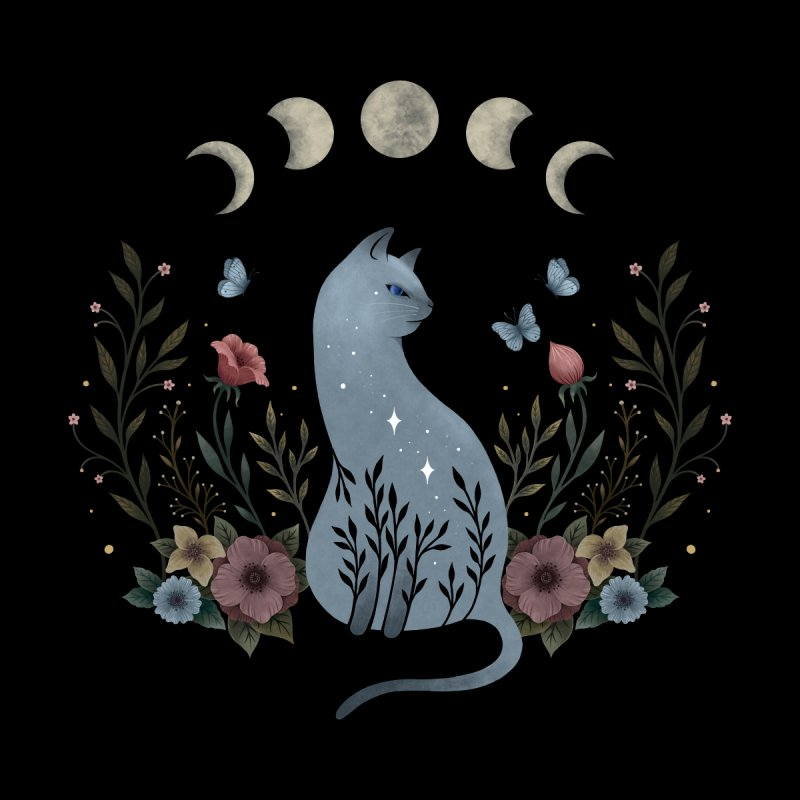 Cat on the Hill Home Tapestry by episodic's Artist Shop