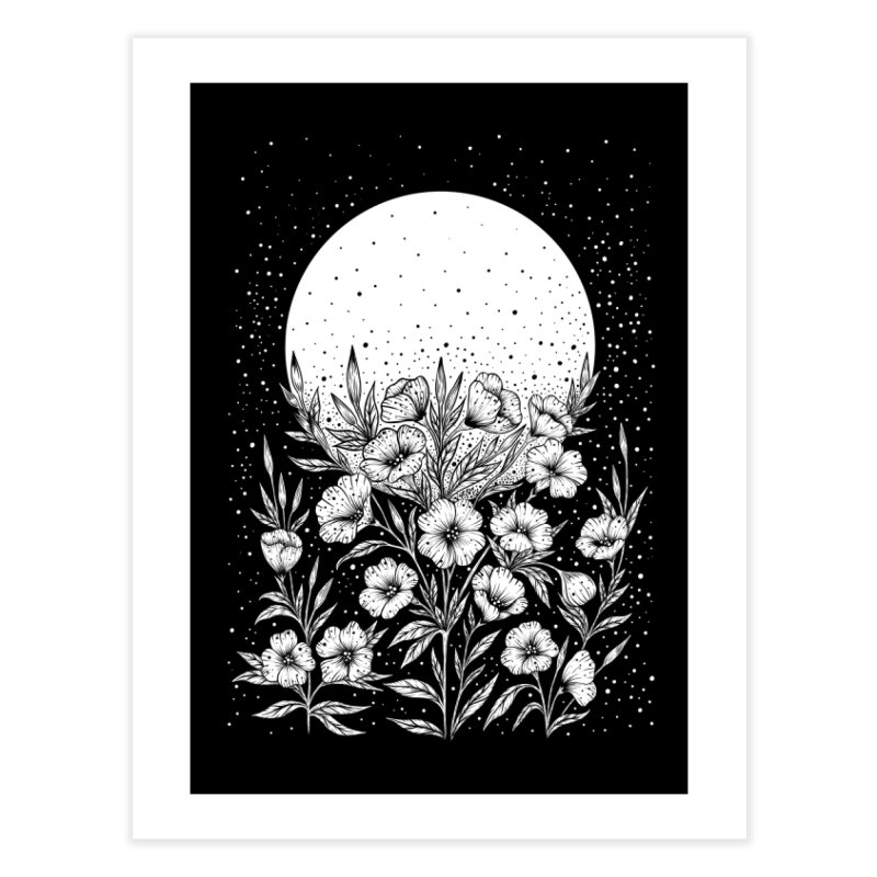 Moon Greeting Home Fine Art Print by episodic's Artist Shop