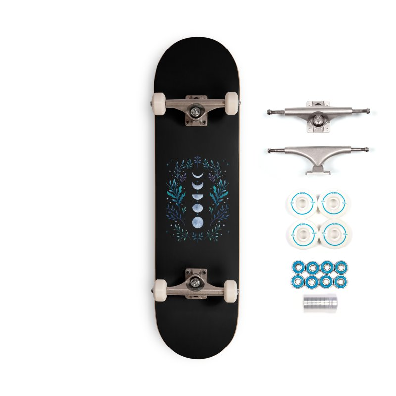 Moonlit Garden - Blue Accessories Skateboard by episodic's Artist Shop