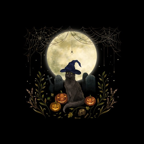 Design for The Black Cat on Halloween Night