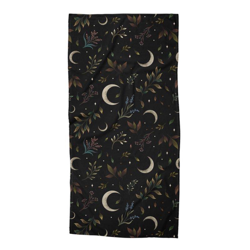 Crescent Moon Garden Accessories Beach Towel by episodic's Artist Shop