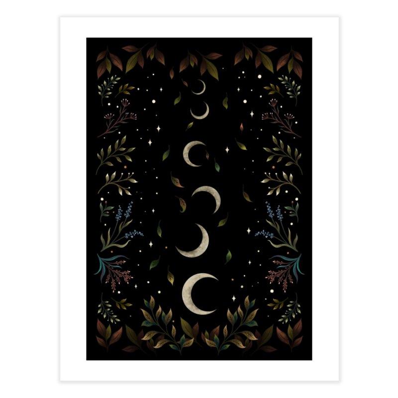 Crescent Moon Garden Home Fine Art Print by episodic's Artist Shop