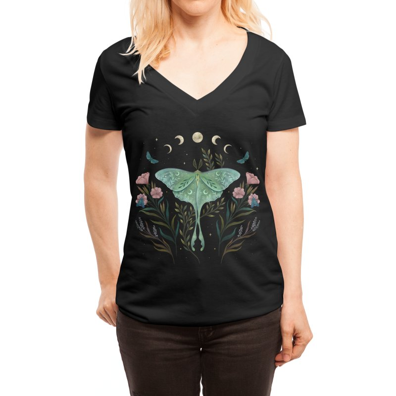 Luna and Forester Women's V-Neck by episodic's Artist Shop