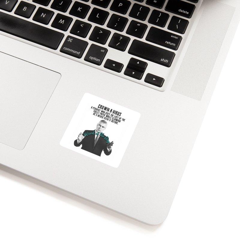 SALE Tshirt Mens Crownavirus Jeffrey Epstein Prince Andrew Randy Andy Charity Design Accessories Sticker by The Jeffrey Epstein Shop