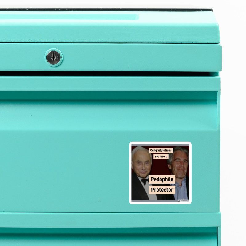 Pedo Protector Sticker Accessories Magnet by The Jeffrey Epstein Shop