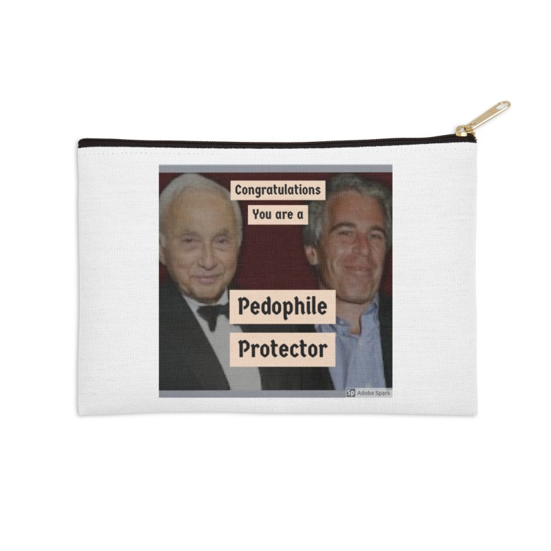 Pedo Protector Sticker Accessories Zip Pouch by The Jeffrey Epstein Shop