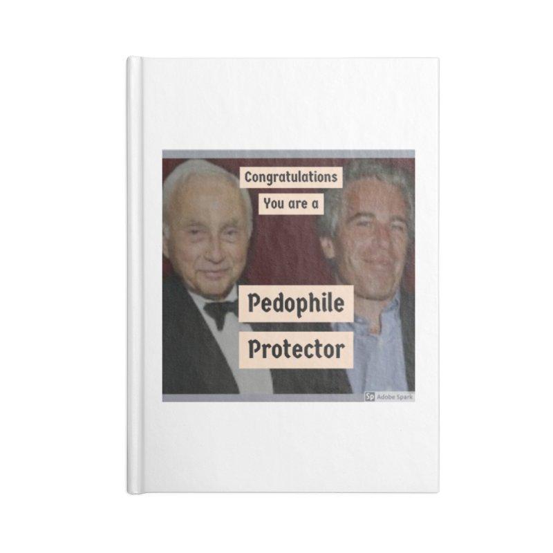 Pedo Protector Sticker Accessories Notebook by The Jeffrey Epstein Shop