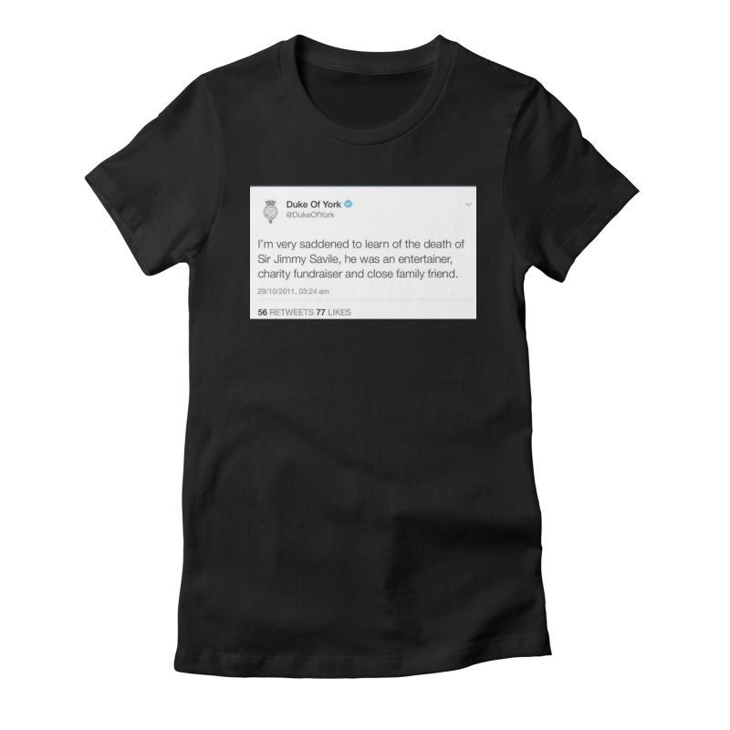 Prince Andrew Awkward AF Sticker Tshirt Women's T-Shirt by The Jeffrey Epstein Shop