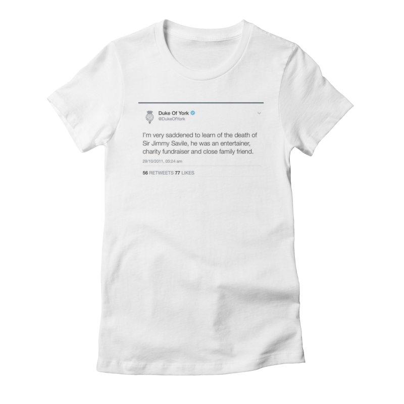 Prince Andrew Awkward AF Sticker Tshirt Women's T-Shirt by The Jeffrey Epstein Shop