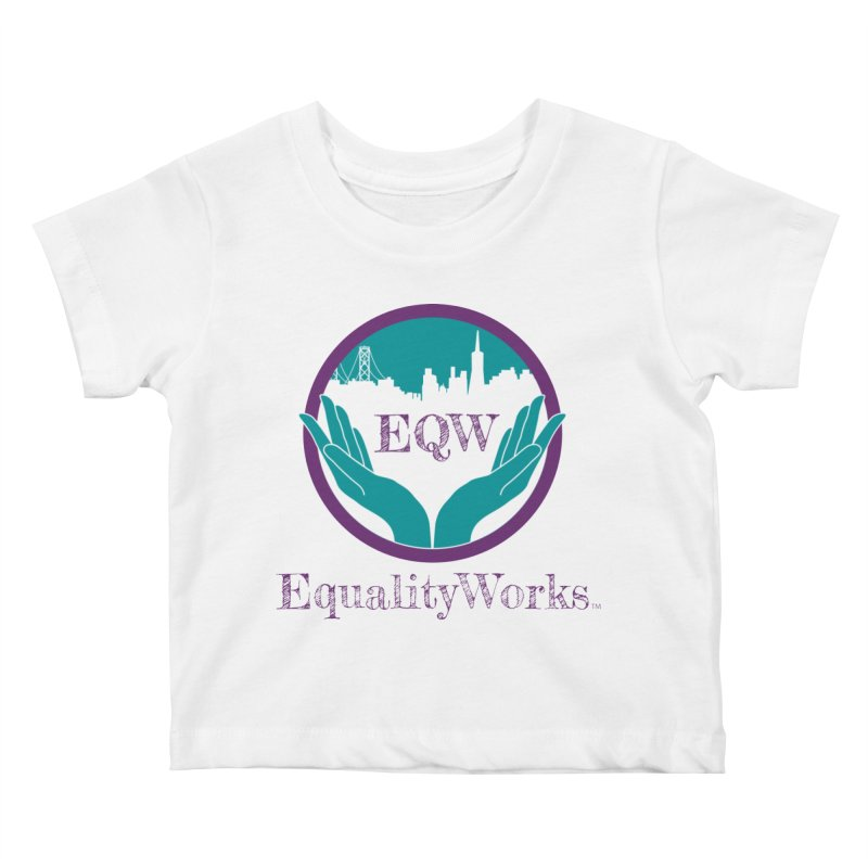 Equality Works Logo Kids Baby T-Shirt by Equality Works (EQW)