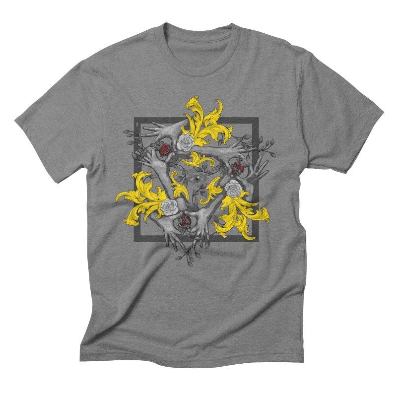 Hands and Hearts Men's Triblend T-Shirt by erdavid's Artist Shop