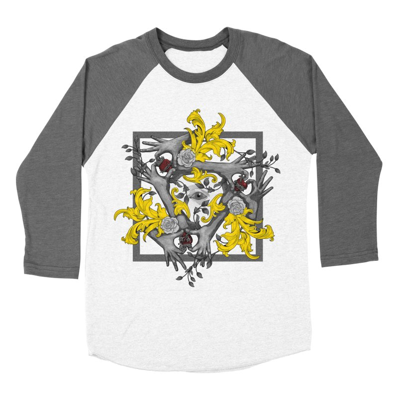 Hands and Hearts Men's Baseball Triblend T-Shirt by erdavid's Artist Shop